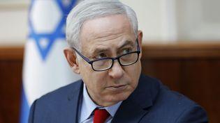 Le Premier ministre israélien Benyamin Netanyahou lors d'un conseil des ministres, à Jérusalem, le 17 décembre 2017. (ABIR SULTAN / POOL)
