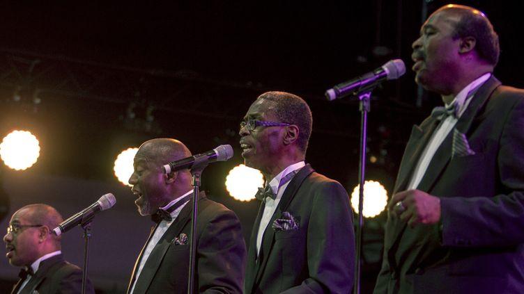 Les quatre membres du Golden Gate Quartet, Jazz à Vienne 2015  (Jean-François Lixon )