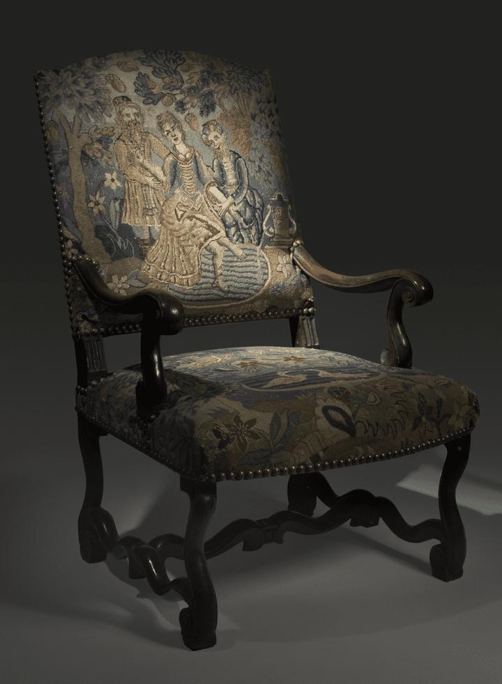 Le fauteuil du Marquis restera vide encore quelque temps. Estimé entre 40 000 et 50 000 euros, il n'a pas trouvé preneur.  (hôtel Drouot )