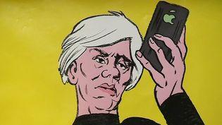 """Expostion """"Andy Warhol by Typex"""" au festival de la bande-dessinée d'Aix-en-Provence  (Capture d'écran France 3/Culturebox )"""