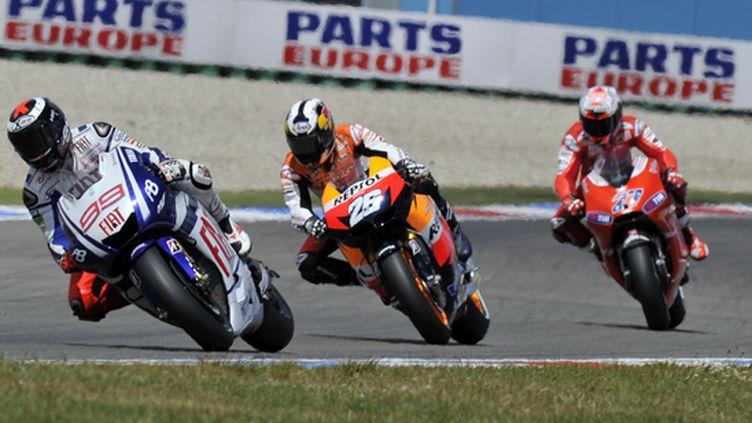 Lorenzo devance Pedrosa et Stoner en MotoGP