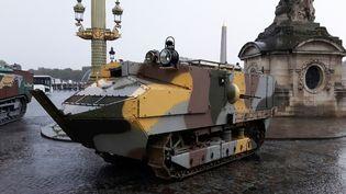 Le dernier exemplaire du char Schneider CA1. (JÉRÔME JADOT / RADIO FRANCE)