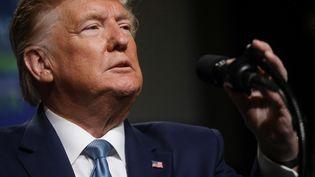 Donald Trump, le 23 octobre 2019, lors d'une conférence à Pittsburgh (Etats-Unis). (LEAH MILLIS / REUTERS)