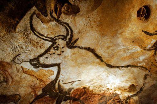 Réplique d'une peinture de la grotte de Lascaux en Dordogne (11 septembre 2010). La grotte est fermée au public pour prévenir toute détérioration. (AFP - LIONEL BONAVENTURE)