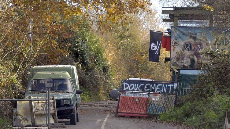 La route D281, à Notre-Dame-des-Landes, devra être rapidement dégagée, selon le Premier ministre, Edouard Philippe. (MAXPPP)
