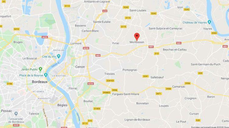 La commune de Montussan en Gironde. (CAPTURE D'ECRAN GOOGLE MAPS)