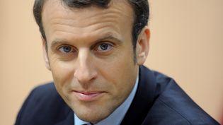 Emmanuel Macron dans le Morbihan le 17 janvier 2017 (FRED TANNEAU / AFP)