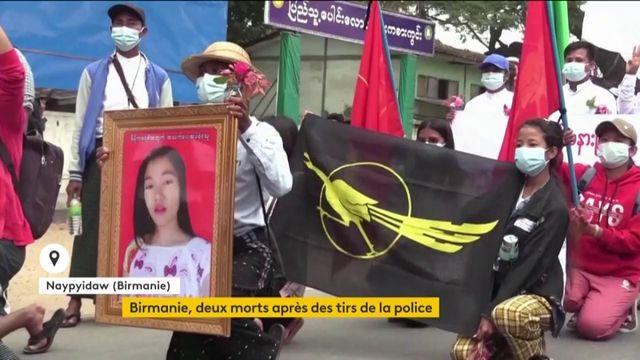 Birmanie : deux personnes meurent après des tirs de la police
