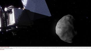 La sonde OSIRIS-REx doit prélever un échantillon du sol de l'astéroïde Bennu. (GODDARD CONCEPTUAL LAB / REX / SIPA)