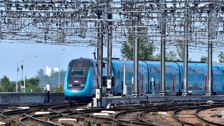 Un TGV arrive en gare de Bordeaux Saint-Jean (Gironde), le 22 juillet 2019. (GEORGES GOBET / AFP)
