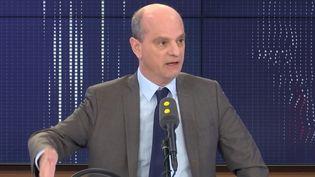 Jean-Michel Blanquer, ministre de l'Education nationale, sur franceinfo, le mercredi 19 février 2020. (FRANCEINFO / RADIOFRANCE)