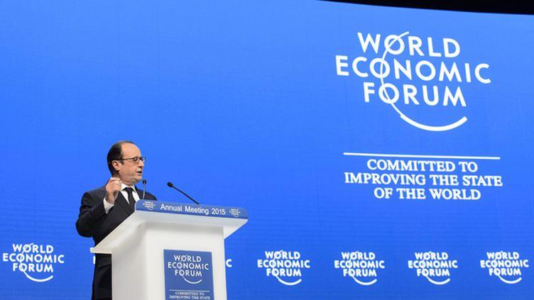 (François Hollande au forum économique de Davos © Maxppp)