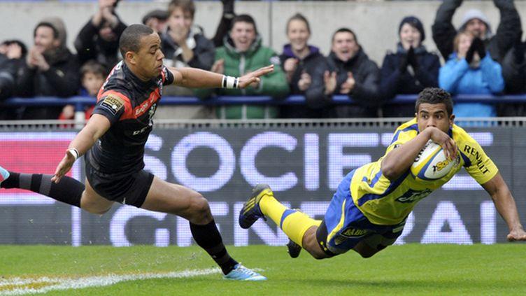 Wesley Fofana (Clermont) a marqué un splendide essai contre Toulouse