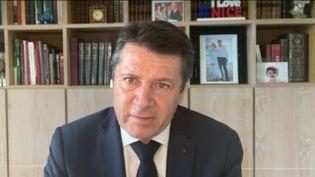 """Christian Estrosi, maire Les Républicains de Nice et président délégué de la région Sud était l'invité du """"8h30 franceinfo"""" dimanche 21 février. (FRANCEINFO / RADIOFRANCE)"""