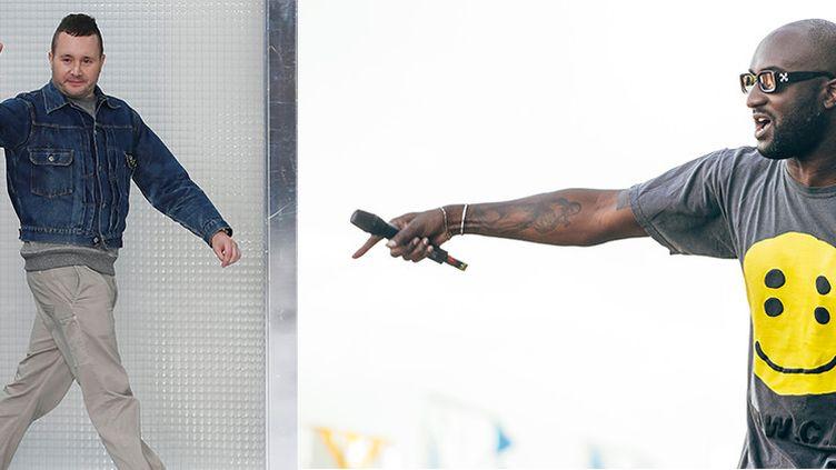 Kim Jones (à gauche) et Virgil Abloh (à droite)  (MaxPPP & Getty Images)