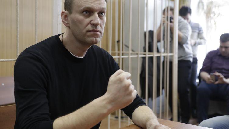 L'opposant russe Alexeï Navalny, lundi 27 mars 2017, au lendemain de son arrestation lors d'une marche anticorruption à Moscou. (TATYANA MAKEYEVA / REUTERS)
