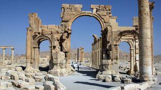 Le célèbre Arc de triomphe de Palmyre en Syrie, le 19 juin 2010. ( AFP )