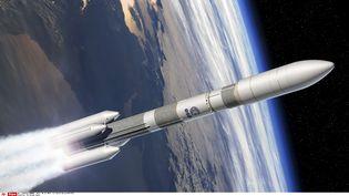Une image par ordinateur du lanceur Ariane 6fournie par l'Agence spatiale européenne (ESA), le 2 décembre 2014. (DAVID DUCROS / AP / SIPA )