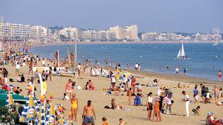 La plage de La Baule (Loire-Atlantique), le 25 juillet 2013. (STEPHANE FRANCES  / ONLY FRANCE / AFP)
