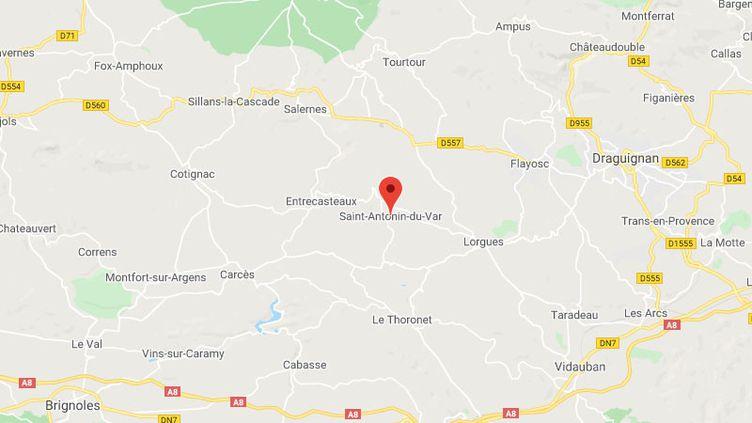 La commune De Saint-Antonin-du-Var dans le Var. (GOOGLE MAPS / FRANCETV INFO)