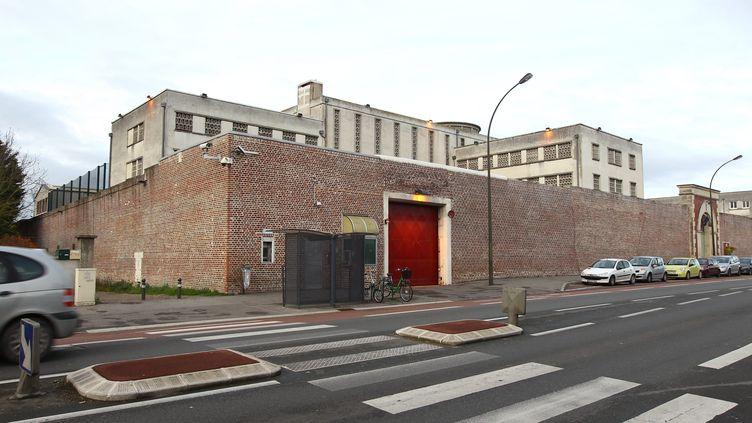 La maison d'arret d'Amiens (Somme), prison d'où se sont évadés trois detenus dans la nuit du 3 au 4 novembre 2015. (FRED HASLIN / MAXPPP)