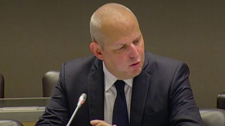 Le directeur général de la Santé Jérôme Salomon, face à lacommission d'enquête parlementaire de l'Assemblée nationale, mardi 16 juin 2020. (FRANCEINFO)