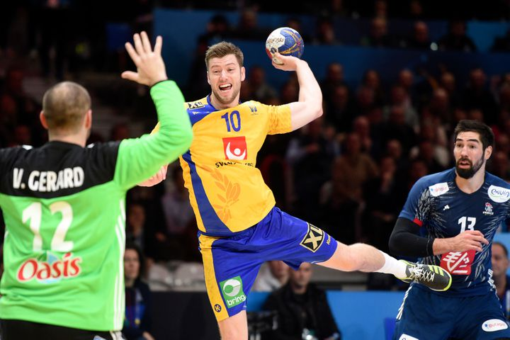 """Face à la Suède en quarts de finale, Vincent Gérard a signé une deuxième mi-temps exemplaire pour hisser les """"Experts"""" dans le dernier carré."""