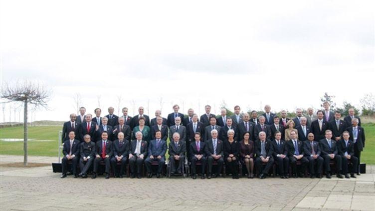 Les grands argentiers du G20, le 7 novembre 2009 à Saint ndrews, en Ecosse. (© AFP/Geoff Caddick)