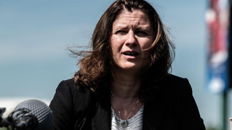 Roxana Maracineanu, la ministre des Sports.  (DANIEL DERAJINSKI / HANS LUCAS)