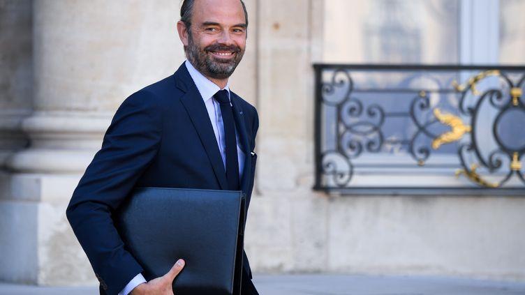 Le Premier ministre Edouard Philippe quitte l'Elysée, le 10 octobre 2018. (ERIC FEFERBERG / AFP)