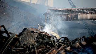 L'usine Lubrizol de Rouen (Seine-Maritime), le 27 septembre 2019. (LOU BENOIST / AFP)