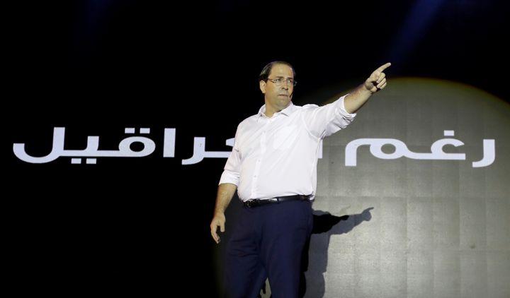 Le Premier ministre tunisien et candidat à la présidentielle, Youssef Chahed, en campagne à Tunis le 2 septembre 2019 (REUTERS - ZOUBEIR SOUISSI / X02856)