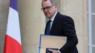 Richard Ferrand, avant une réunion avec Emmanuel Macron à l'Elysée, le 10 décembre 2018. (LUDOVIC MARIN / AFP)