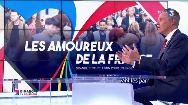 """Nicolas Dupont-Aignan : rassembler """"Les Amoureux de la France"""""""