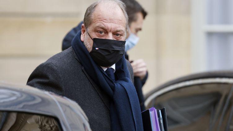 Le ministre français de la Justice, Eric Dupond-Moretti, quitte l'Elysée à Paris le 13 janvier 2021. (LUDOVIC MARIN / AFP)