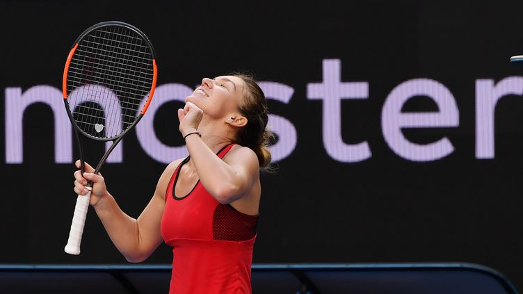 Simona Halep est en quarts de finale de l'Open d'Australie (PAUL CROCK / AFP)