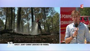 Les pompiers redoutent une reprise de feu à Saint-Cannat (FRANCE 2)