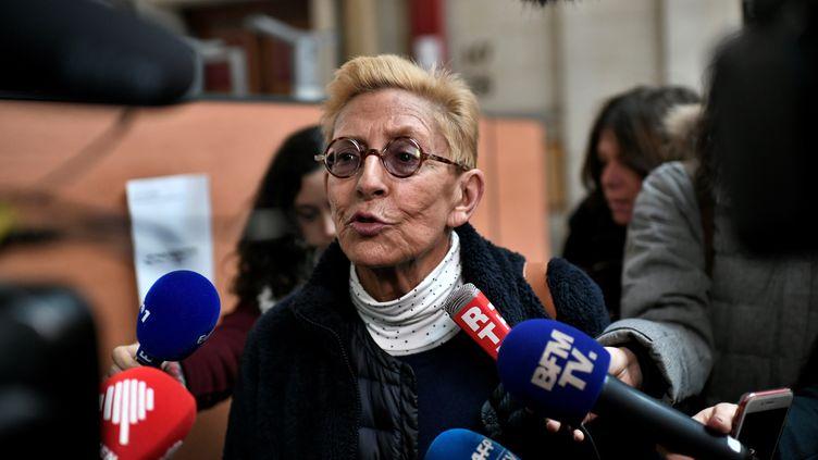 Isabelle Balkany le 11 décembre 2019 lors de l'ouverture du procès en appel pour fraude fiscale, à Paris. (STEPHANE DE SAKUTIN / AFP)