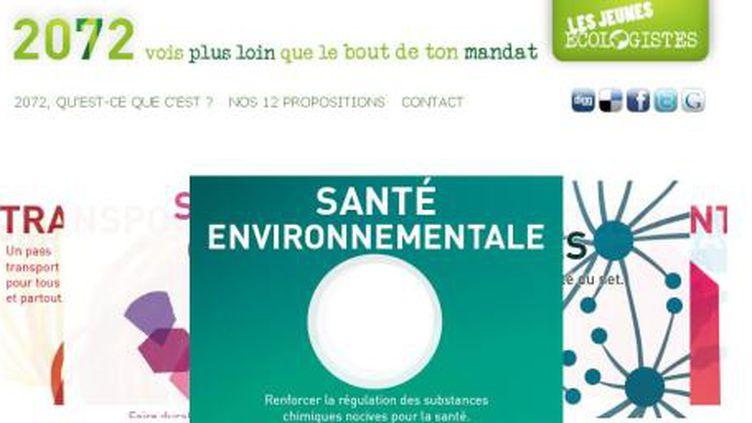 Les Jeunes écologistes ont lancé vendredi leur site internet (Capture d'écran)