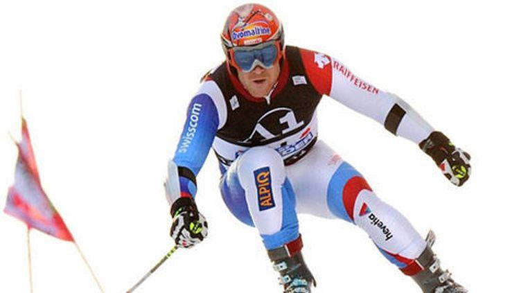 Le Suisse Didier Cuche en action