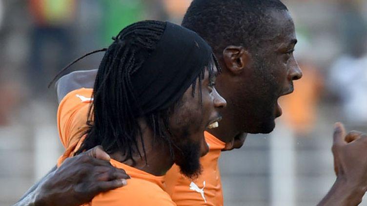 Les deux joueurs Ivoiriens, Gervinho et Yaya Toure