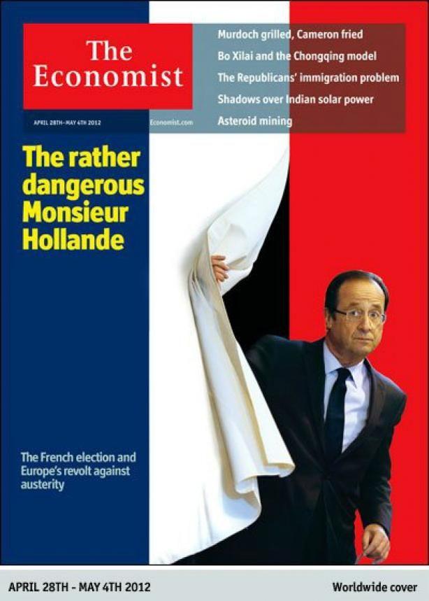 """La une de l'édition de """"The Economist"""" du 28 avril 2012. (FRANCETV INFO)"""