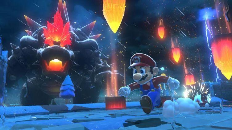 """Dans le jeu """"Bowser's Fury"""", Mario fait face à son ennemi de toujours dans une version """"super énervée"""" à la Godzilla. (NINTENDO)"""