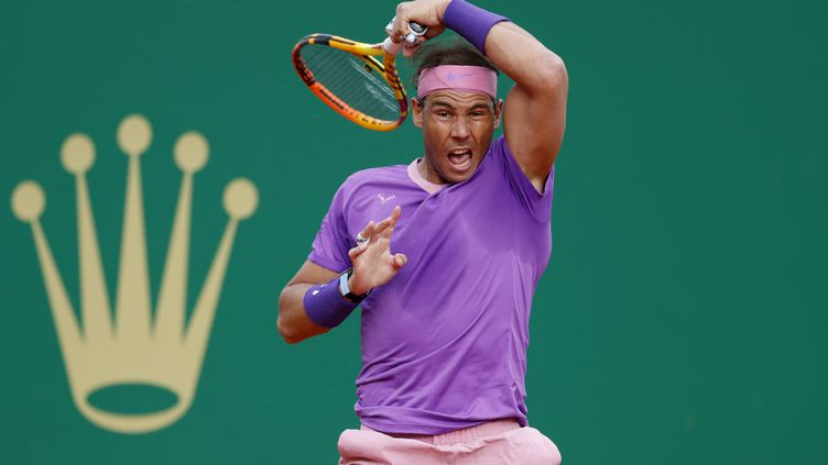 L'Espagnol Rafael Nadal, à Monte Carlo, le 16 avril 2021. (JEAN-FRANCOIS BADIAS / AP)