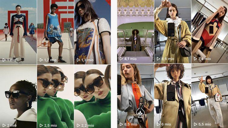 Publications sur l'Instagram de la maison Louis Vuitton (Louis Vuitton)