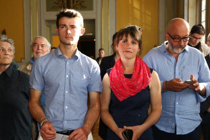 Sandrine Le Feur lors de la soirée électorale du 11 juin 2017, à Morlaix (Finistère). (MAXPPP)