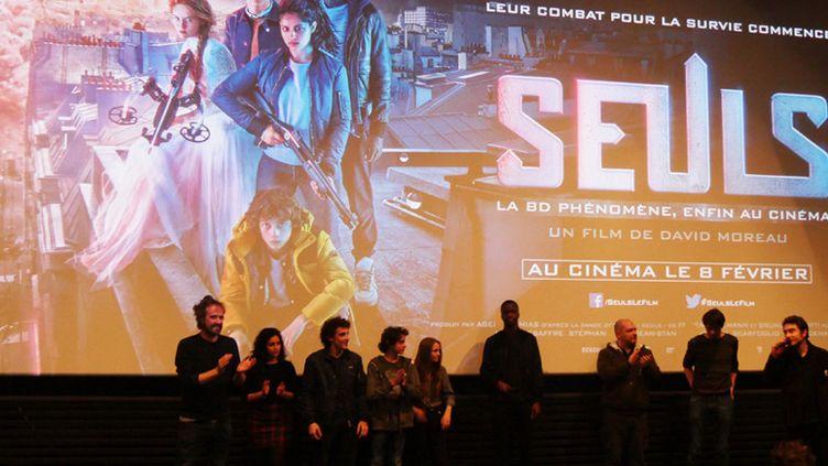 """L'équipe du film """"Seuls"""" projeté en avant-première au Festival International de la BAnde Dessinée d'Angoulême le 27 janvier 2017  (laurence Houot / Culturebox)"""
