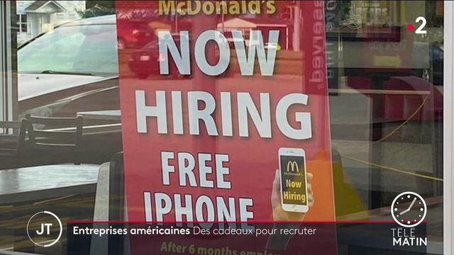 États-Unis: face à la pénurie de main d'œuvre, les entreprises américaines offrent des cadeaux pour recruter