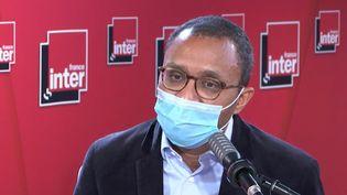 Pap Ndiaye, historien, professeur des universités à Sciences Po, sur France Inter, le 19 février 2021. (FRANCE INTER / RADIO FRANCE)
