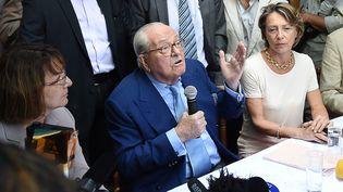 Jean-Marie Le Pen, le 5 septembre 2015 à Marseille (Bouches-du-Rhône). (BORIS HORVAT / AFP)